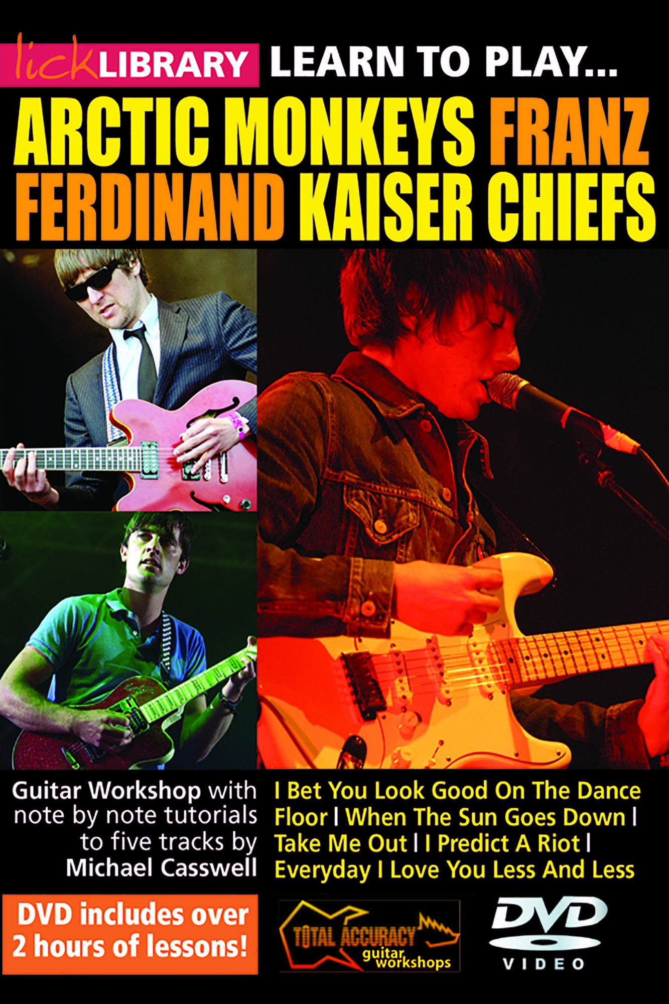 Learn To Play Arctic Monkeys, Franz Ferdinand & Kaiser Chiefs